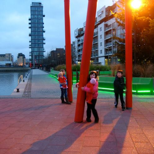 Children playing at Grand Canal Square